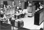 IBM 9020 computer in control room at ZJX in the '60s